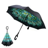 Wholesale Wholesale Custom Flower Inside Full Printed Reverse Inverted Umbrella from china suppliers