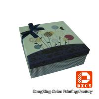 Quality Biodegradable Handmade Gift Packaging Cardboard Boxes With Ribbon Declaration for sale