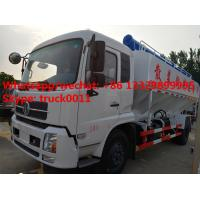 Wholesale 2017s best price 20m3 hydraulic poultry feed truck for sale, factory sale dongfeng LHD/RHD 10tons hydraulic feed truck from china suppliers