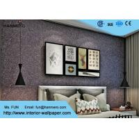 Wholesale Bedroom Mica Stone Wallpaper , 3d Brick Effect Wallpaper With Vermiculite Material from china suppliers