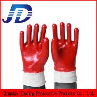 Quality PVC oil-resistant waterproof industrial gloves for sale