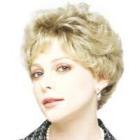 Wholesale Glueless Wavy Short Hair Synthetic Full Lace Wigs Golden Color OEM ODM from china suppliers