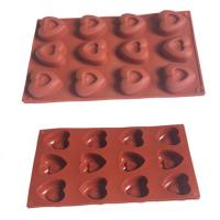 Wholesale Food Grade 12 Cavities Double Heart Design Silicone Baking Cake Mold from china suppliers