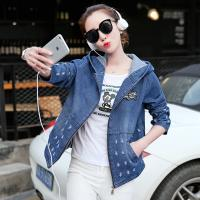 Wholesale Damaged Wash Ripped Womens Jean Jackets With Hoodie Wear Comfortable from china suppliers