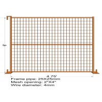 "Wholesale 6FT X 4.75FT ""Quebec French Land"" TEMPORARY FENCE Mesh3""x6' Diameter 4.00mm Zinc Coated And Power Coated Dupont from china suppliers"