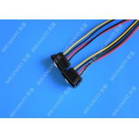 Quality Computer Molex 4 Pin To 2 x15 Pin SATA Data Cable Right Angle Pitch 5.08mm for sale