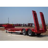 Quality 3 Axle Low Bed Semi Trailer For Transport Heavy Cargo And Excavator for sale