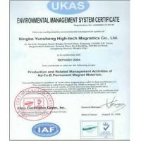 NINGBO YANSEN ENTERPRISES DEVELOPMENT CO., LTD Certifications