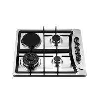 Wholesale Stainless Steel Gas And Electric Hob With 3 Burners And 1 Hotplate 580x500mm from china suppliers