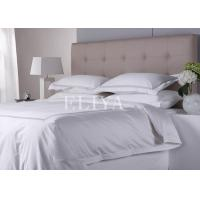 Wholesale Premium Healthy Style Pure Cotton Luxury Hotel Bed Linen Plain White Sateen Bedding Sets from china suppliers