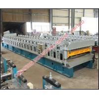 Buy cheap Double Layer Corrugated and Trapezoidal Box Shape Roofing Sheet Making Machine from wholesalers