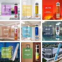 Wholesale Building Material 300ml Clear GP Glass Adhesive Sealant JB7132 Uv Resistant Caulk Acetic Silicone Sealant from china suppliers