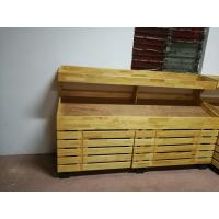 Wholesale 2 Layers Promotion Supermarket Display Stands Wood Storage Shelves Banana Display Rack from china suppliers