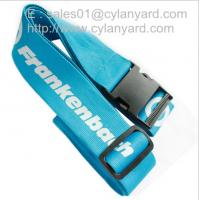 Wholesale Promotional travel luggage belt with detachable release buckle, polyester suicase straps, from china suppliers