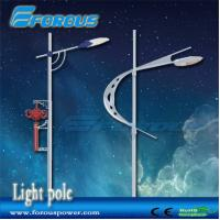 Quality Forous 6-12m Outdoor street lighting pole/stadium light poles with single/Lamp Poles for sale