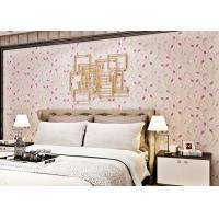 Wholesale Purple Leaves Home Decorating Wallpaper For Bedroom Walls , Light Embossing from china suppliers