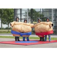 China Sumo Wrestler Inflatable Amusement Park , Fancy sticky Dress Costume Suit on sale