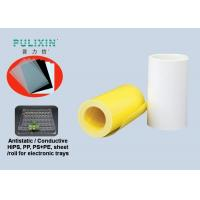 Wholesale Waterproof Clear Conductive HIPS Plastic Sheet Printing , White / Yellow from china suppliers
