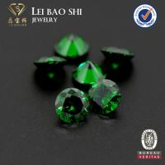 5A Grade Round Diamond Cut Emerald Green synthetic CZ