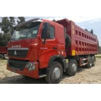 Wholesale CNHTChowo DUMP TRUCK Manual Transmission Type and Diesel Fuel Type 8X4 red color from china suppliers