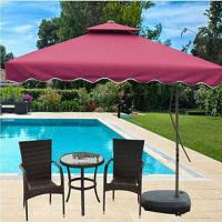 Wholesale Double layers patio umbrella,custom logo printing available,small orders accepted from china suppliers