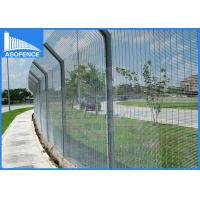 Wholesale Galvanized Wire Anti Climb Fence Clear Vu With Powder Painted , 12.7*76.2mm from china suppliers