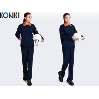 Quality Orange Collar Cool Work Uniforms / Workwear Uniform Hi Vis Safety For Engineers for sale
