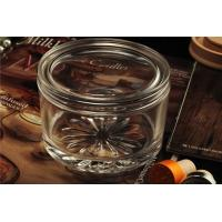 Wholesale Personalised Empty Clear Glass Candle Jars With Lids , ASTM Test from china suppliers