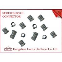 Wholesale 20mm 25mm Steel GI Conduit Screwless Connector Electro Galvanized BS4568 from china suppliers