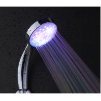 Wholesale hydro power led shower head chrome plated temperature sensor led shower head from china suppliers