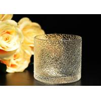 Wholesale Leaf Pattern decorating clear glass candle holders for wedding , 18oz from china suppliers