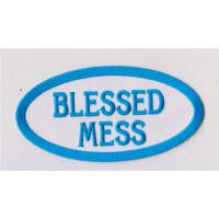 Wholesale Blessed Mess  Patch Embroidered Iron On Applique from china suppliers