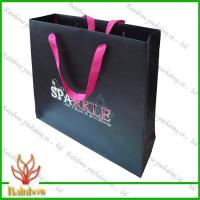 Wholesale Customized Luxury Brown Kraft Paper Bags For Shopping With Hang Rope from china suppliers