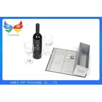 Wholesale Square Red Wine Gift Box Embossing Paper , Recycle Corrugated Board Material from china suppliers