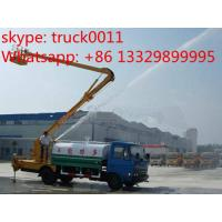 Wholesale dongfeng brand high altitude operation truck with water tanker, hot sale hydraulic bucket truck with water tank from china suppliers
