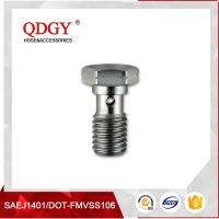 Wholesale STAINLESS STEEL MATERIAL BRAKE HOSE FITTINGS  SINGLE BANJO BOLT M10 X 1.5 from china suppliers