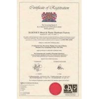 Rasonics Development Ltd Certifications