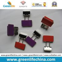 Wholesale Colorful Rectangle Plastic Handle Binder Clips Ready for Company Logo from china suppliers