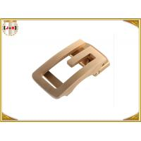 Wholesale Antique Copper Brushed Stainless Steel Belt Buckles Laser Engraved Custom Shape from china suppliers