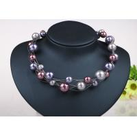 Wholesale Twisted Illusion Silver Chian Costume Pearl Necklace , Floating Pearl Necklace from china suppliers