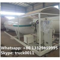 Wholesale Hot sale China supplier of mobile skid propane gas refilling station with digital scales, skid lpg tank with scale from china suppliers