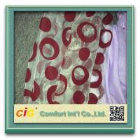 Wholesale Indoor Organze Curtain Cloth Modern Curtain Fabric With Flock , Waterproof and Durable from china suppliers