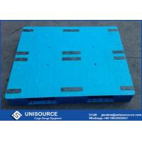 Wholesale Standard Size  Rackable Plastic Pallets , Heavy Duty Single Faced HDPE Plastic Pallet from china suppliers