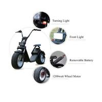 Wholesale 1200 W Two Wheels Electric Scooter , 2 Wheel Motor Scooter With Removable Battery from china suppliers
