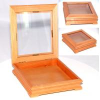 Wholesale Solid maple wood box with window on top lid from china suppliers