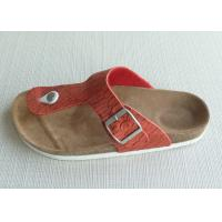 Wholesale Red Ladies / Womens Cork Slippers , Slip-on Birkenstock Lightweight from china suppliers