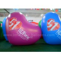 Wholesale Heart Shaped Inflatable Advertising Balloons / 2.5m PVC Air Balloon Advertising from china suppliers