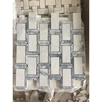 Wholesale Hot sale White&Grey marble Mosaic wall tile for Backsplash,Kitchen,bathroom,shower from china suppliers