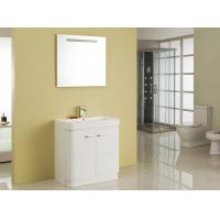 Free Standing White Flush Color Square Sinks Bathroom Vanities ISO2000 Standard