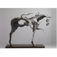 Wholesale 170cm Life Size Abstract Stainless Steel Horse Sculpture Brushed Finishing from china suppliers